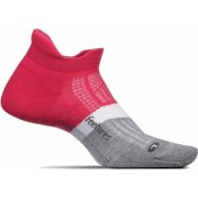 Feetures Elite Ultra Light No Show Tab - Fierce Magenta - Hardloopsokken - Sportsokken - L - 43 t/m 46