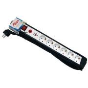 Prelungitor cu protectie supratensiune 6 prize 1.5m cu cablu 3x1,5mm