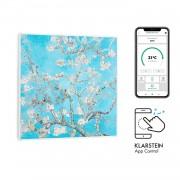 Klarstein Wonderwall Air Art Smart, инфрачервен нагревател, 60 х 60 см, 350 W, бадемов цвят (HTR10-WndwlS350WBlsm)