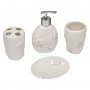 Set accesorii baie Designer Collection, 4 piese, motive marine