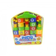 Let's Play Animal Park - Learning Blocks and Animal Figure Set ---- 43 Pieces Block with Doll
