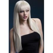 Fever Jessica Wig 26inch / 66cm Blonde longue ligne droite avec une frange