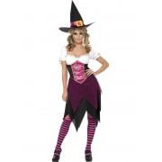 Costum Halloween adulti Vrajitoare Colorata