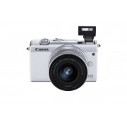 Canon EOS M200 Kit Weiss + EF-M 15-45 IS STM