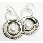 Cercei din argint cu perle E5699 (Piatra: perla de cultura, Categorie: cercei)