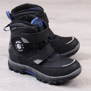 American Club Śniegowce chłopięce wodoodporne zima czarne American Club - czarny / niebieski