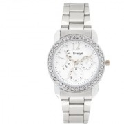 Evelyn Analogue White Dial Girls Watches-Eve-675