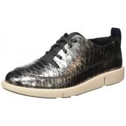 Clarks Women's Tri Nia Silver Sneakers - 4 UK/India (37 EU)