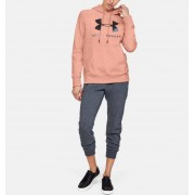 Under Armour Women's UA Rival Fleece Sportstyle Graphic Hoodie Pink LG