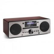 Auna Harvard equipo de música DAB/DAB+ radio FM reproductor de CD cargador USB nogal