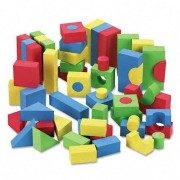 Chenille Kraft : Wonderfoam Blocks, Assorted Colors, 68 per Pack -:- Sold as 2 Packs of - 68 - / - T