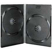 DVD-BOX 14 mm Двойна черна за DVD - в кашон 100 броя