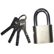 Stainless Steel Solid Pad Lock With 4 Steel CP Keys (Heavy Body High Security Pad Lock)