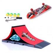 Mini Skate Park Ramp Parts for Tech Deck Fingerboard Finger Skateboard Ultimate Parks Ramp #A