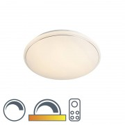 Leuchten Direct Modern Round Ceiling Lamp 60cm White with Starry Sky incl LED 40W - Mars