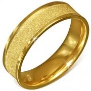 Arany színű, homokfújt nemesacél gyűrű ékszer