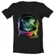 Tee Space Cat Wide Neck Tee