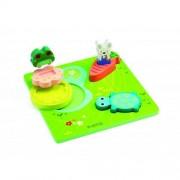 Puzzle relief Djeco 1 2 3 froggy