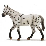 Mojo Fun 387108 Leopard Appaloosa Stallion Realistic Farm / Ranch / Equestrian Model Horse Toy Replica