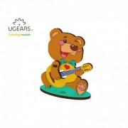 Ursulet - Puzzle 3D de colorat pentru copii