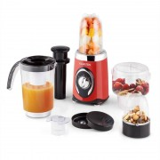 Klarstein Fruizooka Mixer Smoothiemaker 4-in-1 multifunktionsenhet 220W röd