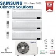 Samsung Climatizzatore Condizionatore Samsung Inverter Trial Split Windfree Elite 7000+9000+9000 Con Aj068txj R-32 Classe A++ Wifi - New 2020 7+9+9
