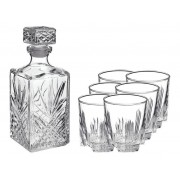 BORMIOLIROCCO Whiskeykaraf met 6 glazen