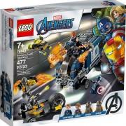 set de construcción lego super héroes vengadores: derribo del camión 76143