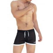 Icker Sea Clarity Mesh Side Slit Contrast Trim Shorts Black SHR-14-CLB-01