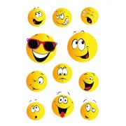 Geen 33x Smiley/emoticons stickers