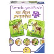 PRIMUL MEU PUZZLE ANIMALUTE, 9X2 PIESE - RAVENSBURGER (RVSPC07365)