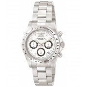 Invicta Watches Invicta Men's 9211 Speedway Collection Stainless Steel Chronograph Watch with Link Bracelet WhiteSilver