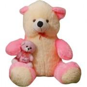 Star Enterprise Sitting Teddy Bear Soft Toy Pink 80cm