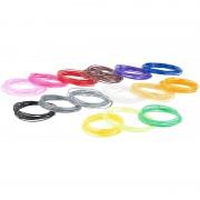 FreeSculpt 15-farbiges ABS-Filament-Set für 3D-Drucker-Stifte, je 3 m, Ø 1,75 mm