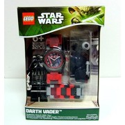 LEGO Star Wars Lego Darth Vader Watch Building Toy Time Light Saber Create Design Space Blocks Star Wars Evil Block Toy [Parallel import goods]
