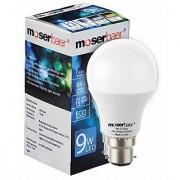 Moserbaer 9w Cool White Led Bulb (pack Of 6 Bulb)