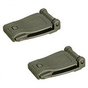 Futaba Molle Strap Backpack Connecting Buckle Clip - Army Green ( Pack Of Two )