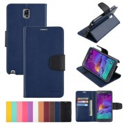 Korean Mercury Sonata Wallet Case for Samsung Galaxy Note 4 - Navy