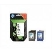 HP 21/22 bk en 3-clr inktpatroon origineel (2 st)