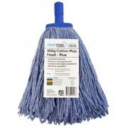 CLEANMAX CONTRACTOR 400G COTTON MOP HEAD [Colour: Blue]