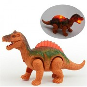 Toponechoice Electric Walking Dinosaur Toys Glowing Dinosaurs with Sound Animals Model Toys for Kids Children Interactive Toys Gift