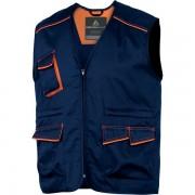 Gilet multitasca Delta Plus M6GILBMGT - 400951 abbigliamento da lavoro - blu/arancione - Taglia l - Conf 1 - M6GILBMGT