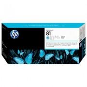 HP 81 tête d'impression encre teintée cyan clair et dispositif de nettoyage de tête d'impression DesignJet