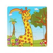 HATCHMATIC Free Shipping Wooden Giraffe Puzzle Educational Developmental Baby Kids Training Toy Baby Kids Puzzle Education Learning Tools: Style 1