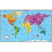 Kids' Illustrated World Wall Map Folded/Rand McNally