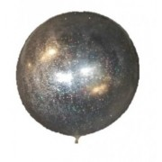 Balon folie transparent sclipici argintiu 45cm