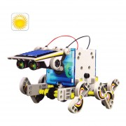 14 In 1 DIY Solar Powered Robot PEdificio Bloque Puzzle Juego De Montaje LasTIC