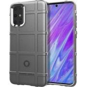 Samsung Galaxy S20 Plus (S20+) hoesje, Rugged shield TPU case, Grijs - Telefoonhoesje geschikt voor: Samsung Galaxy S20 Plus