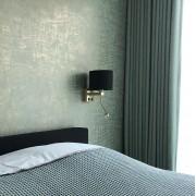 QAZQA Applique murale moderne doré avec abat-jour velours noir et or 18/18/14 - Brescia