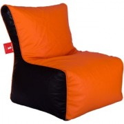 Sicillian Bean Bags Bean Chair - Size Xl - Without Fillers - Cover Only (Orange & Black)
